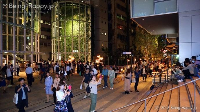 渋谷ストリームの混雑状況