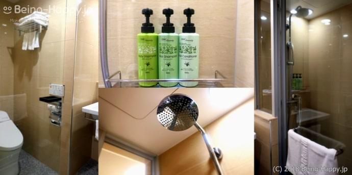 アーバンホテル京都二条プレミアムのトイレとシャワーブース
