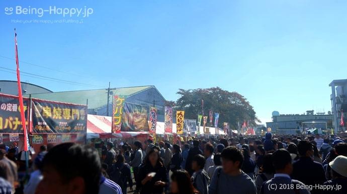 入間航空祭の屋台広場
