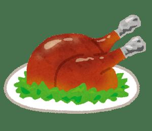 感謝祭の七面鳥の丸焼き