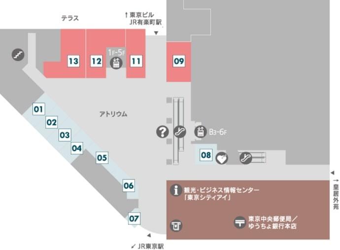 1階のフロアマップ