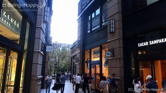 丸の内ブリックスクエア中庭通路