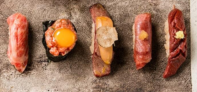 肉割烹 KINTANの和牛握り寿司