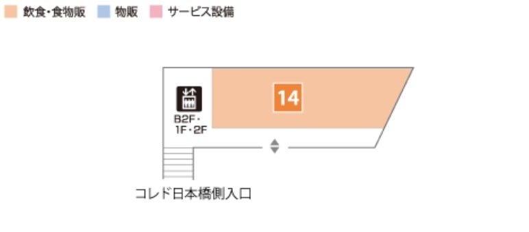 コレド日本橋のANNEX マップ