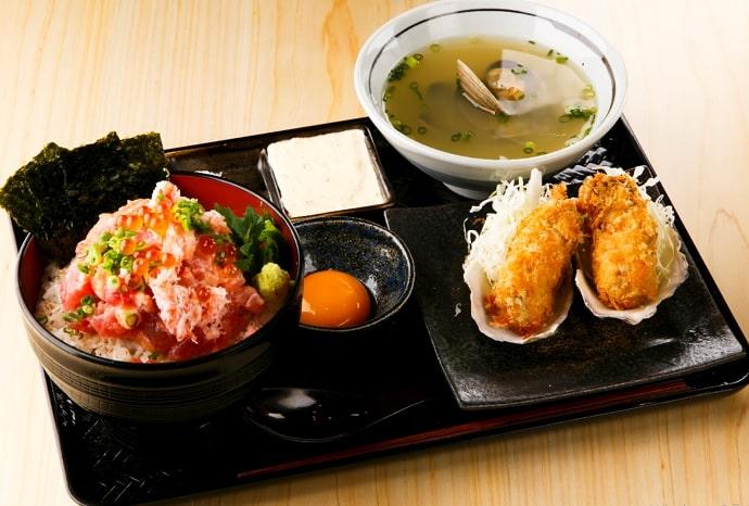 牡蠣場 北海道厚岸の牡蠣フライ定食