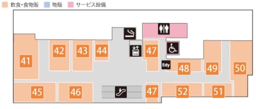 コレド日本橋の4階マップ
