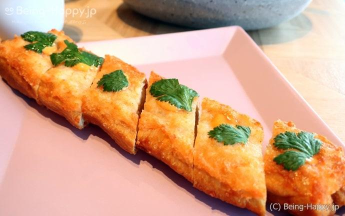 ダンプリングタイムの海老トースト