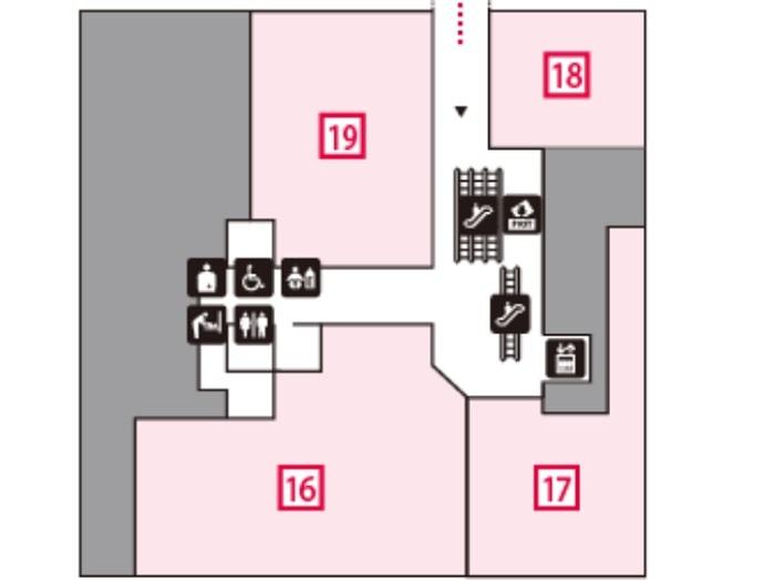 コレド室町1の2階フロアマップ