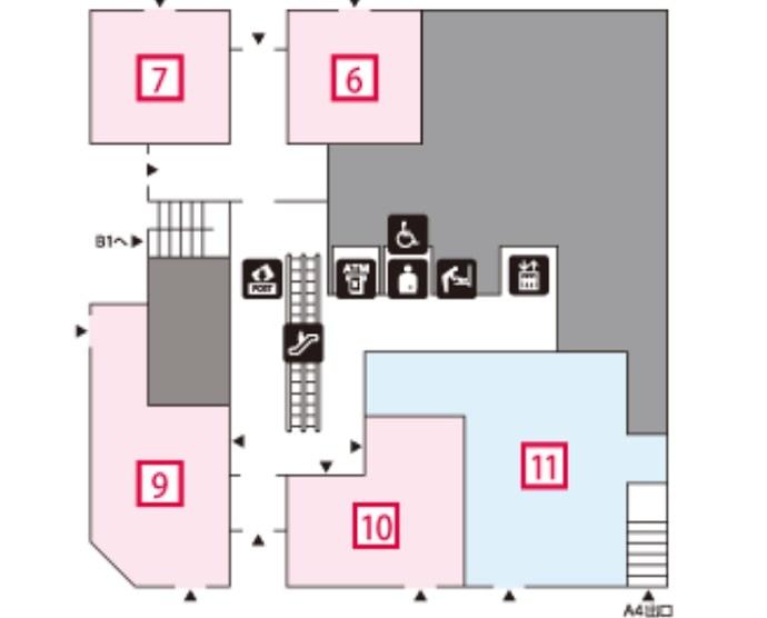 コレド室町3の1階フロアマップ