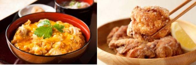 鶏三和の親子丼とから揚げ