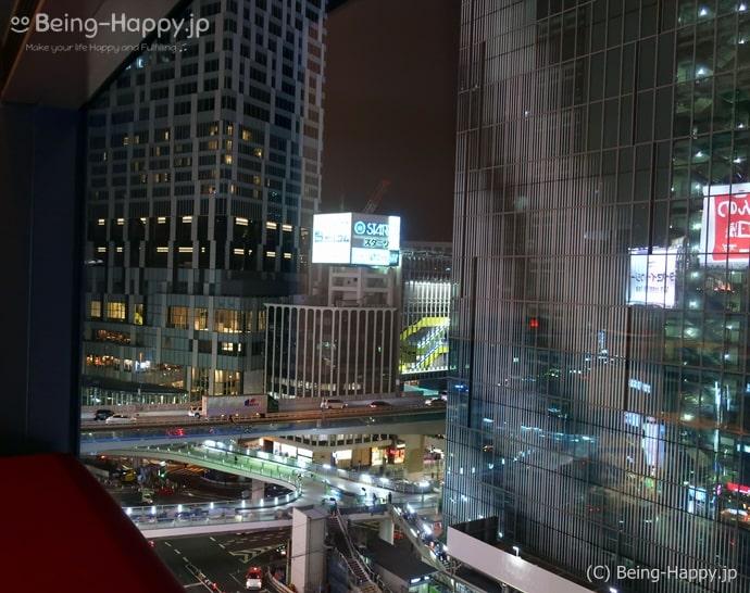 メゾンカイザーテーブルから見た渋谷の街