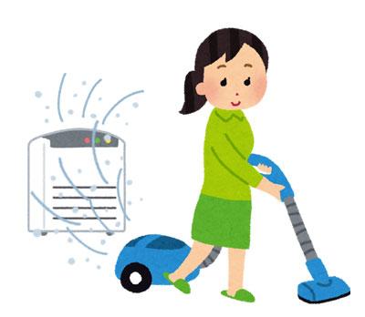 掃除機の排気は汚れている