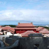 首里城を上から撮影したところ