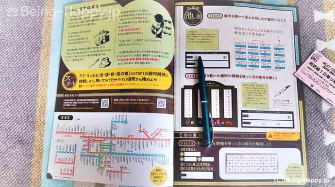 WEST CODE 鉄道で巡る秘密の宝の物語 冊子