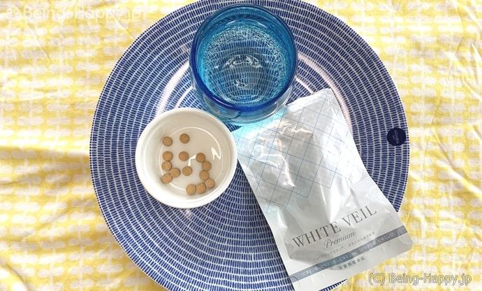 ホワイトヴェールプレミアムを皿に出した写真