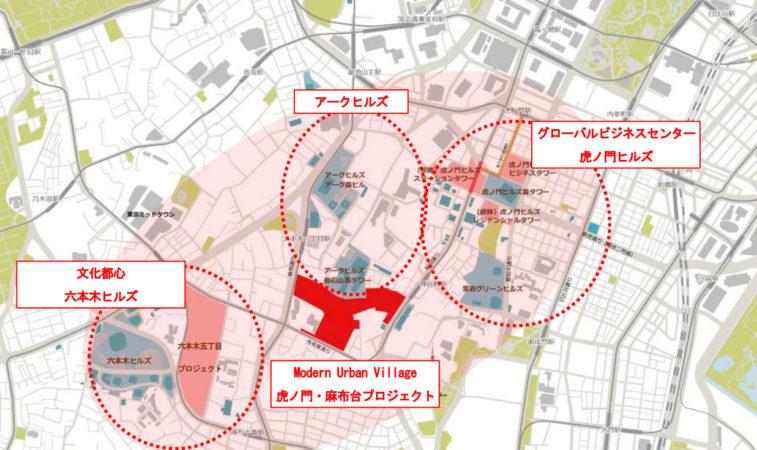 麻布台ヒルズ広域マップ