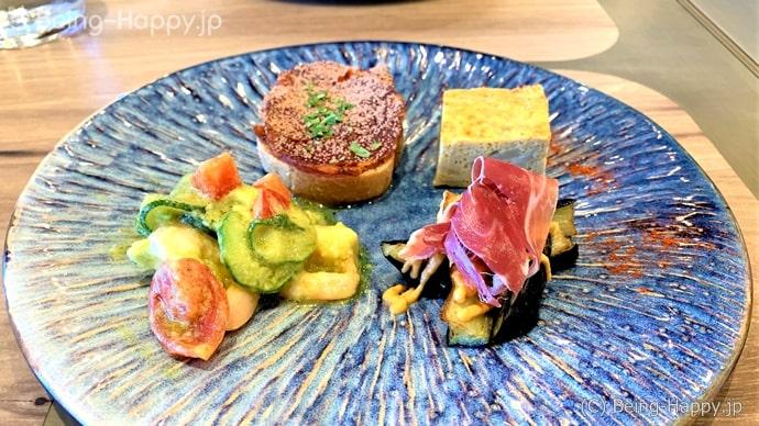 ランチセットの前菜,渋谷スクランブルスクエア,ラ コキーナ セルべセリア