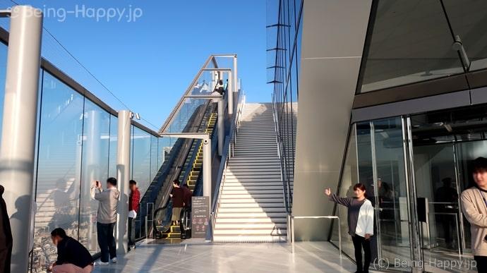 渋谷スカイ 屋上展望台へ上がる階段