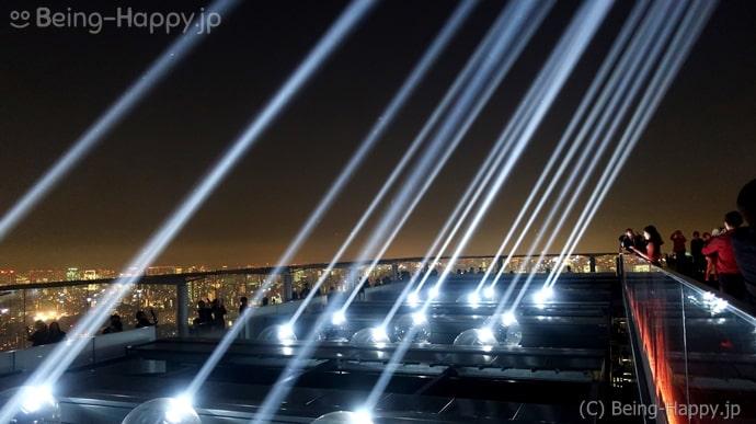 渋谷スカイ CROSSING LIGHTのライトアップ