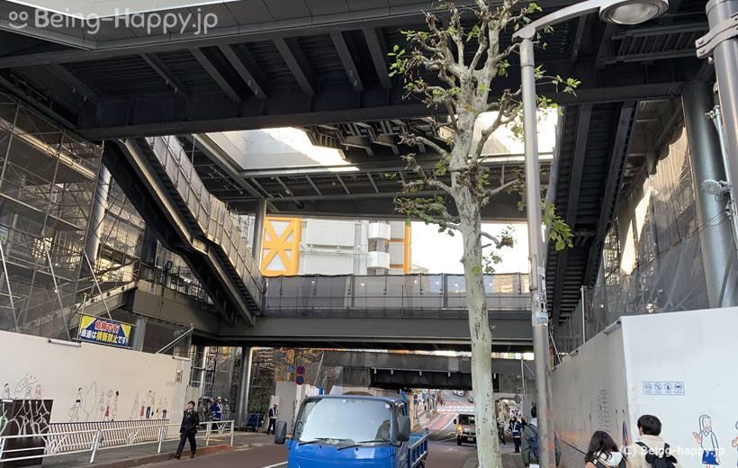 新宮下公園建設中の展望テラス