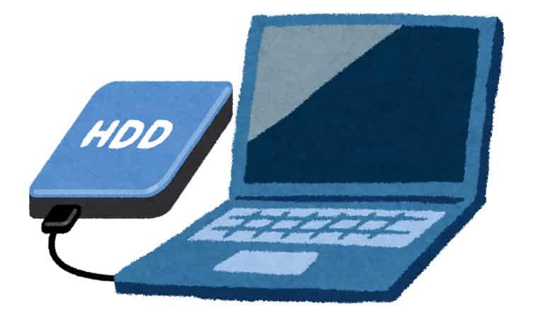 USB外付けHDDのイメージ